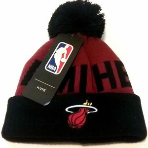 Kid's NBA MIAMI HEAT Basketball Woolen Winter Hat